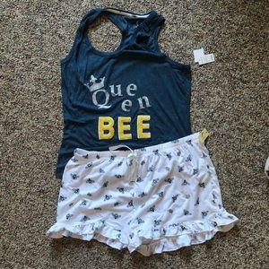 Queen Bee Pajama Set - NWT